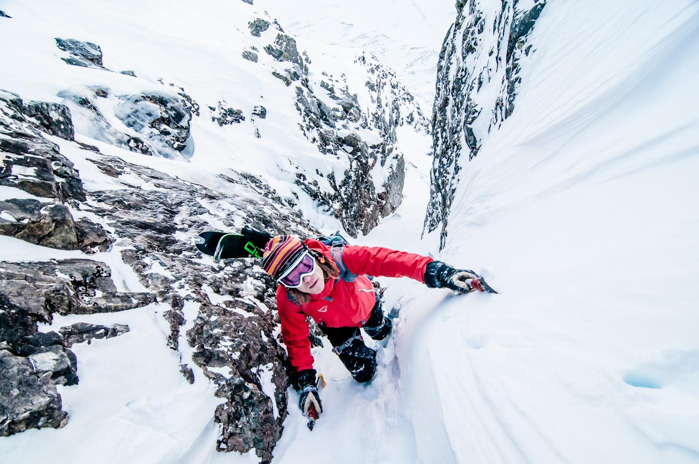 Alpinisme in Lunndörren, Jämtland