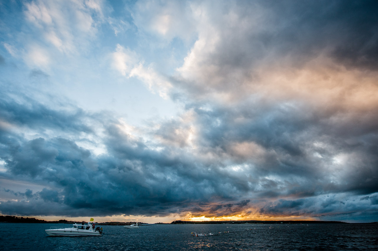 Dramatic clouds over ÖTILLÖ swimrun