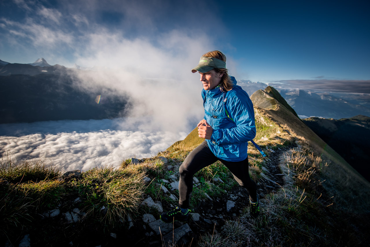 Trailrunning Hardergrat Ridge Swiss Alps